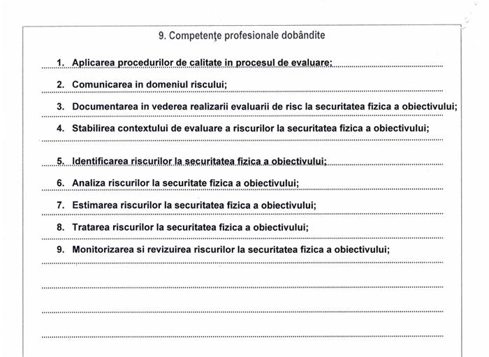 Supliment descriptiv al certificatului de absolvire 002