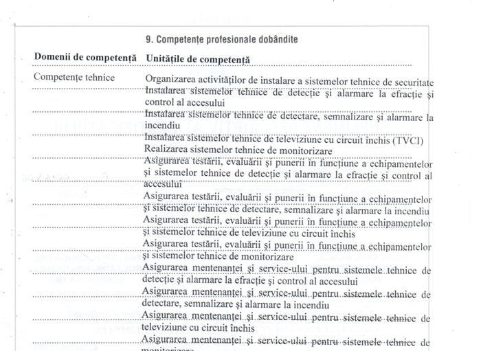 Supliment descriptiv al certificatului de absolvire