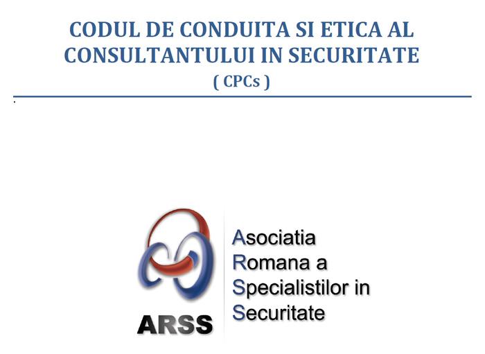 Codul de conduita si etica al consultantului in securitate